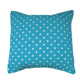 Cotton Small Polka Dots Decorative Throw Pillow/Sham Cushion Cover White on Turquoise