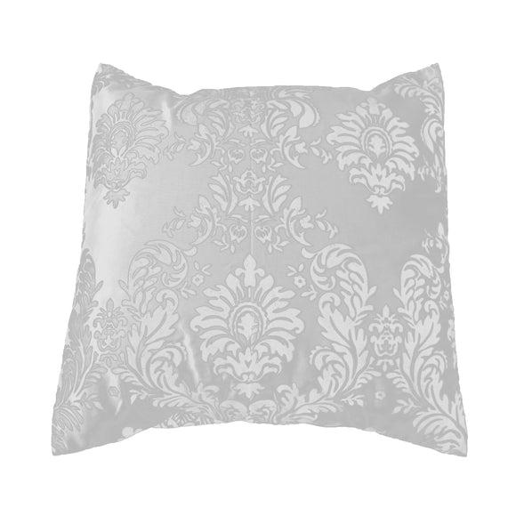 Flocked Damask Decorative Throw Pillow/Sham Cushion Cover White on White