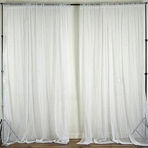 Sheer Chiffon Curtain Panel 58 Inch Wide Window Treatment White
