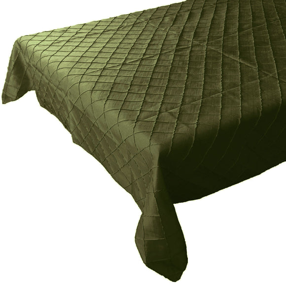 Pintuck Taffeta Tablecloth Willow Green