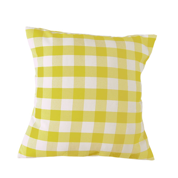Gingham Checkered Decorative Throw Pillow/Sham Cushion Cover Yellow & White