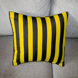 Cotton 1 Inch Stripe Decorative Throw Pillow/Sham Cushion Cover Yellow and Black