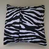 Cotton Animal Zebra Print Decorative Throw Pillow/Sham Cushion Cover Black