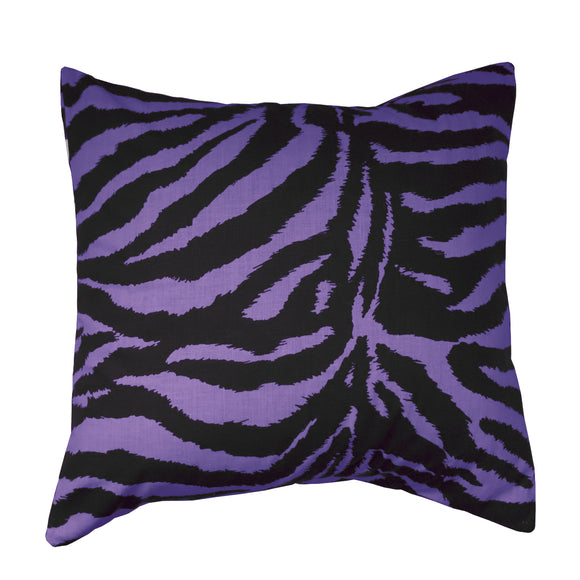 Cotton Animal Zebra Print Decorative Throw Pillow/Sham Cushion Cover Purple