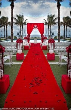 Felt Aisle Runner for Wedding Runway and VIP Events Solid Red