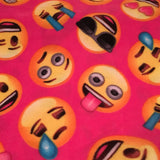Fleece Blanket Emoji Faces Pink