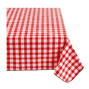 Cotton Tavern Checker Tablecloth Red