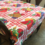 Cotton Fruit Bundle on Plaid Tablecloth White