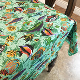Cotton Under the Sea Tablecloth Sea Green