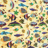 Cotton Under the Sea Tablecloth Yellow