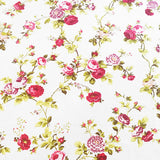 Cotton Vintage Floral Tablecloth Red on White