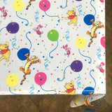 Winnie the Pooh's Birthday Party CLEAR Plastic Vinyl Tablecloth Protector