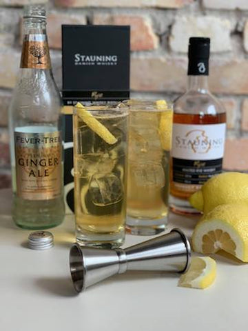 ginger and rye cocktail by stauning whisky