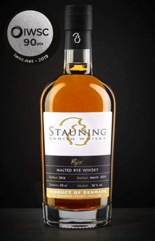 Stauning Rye whisky got a silver trophy medal at international wine and spirits competition 2019
