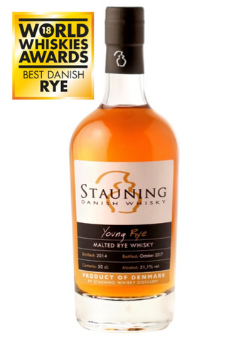 Stauning Young Rye Whisky was awarded best danish rye by world whiskies award 2018