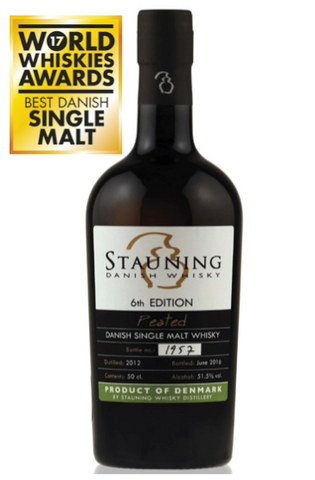 Stauning Whisky Peated single malt whisky was awarded best danish single malt 2017