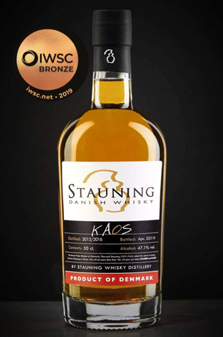 Stauning Kaos blended whisky bronze medal in international wine and spirits competition 2019
