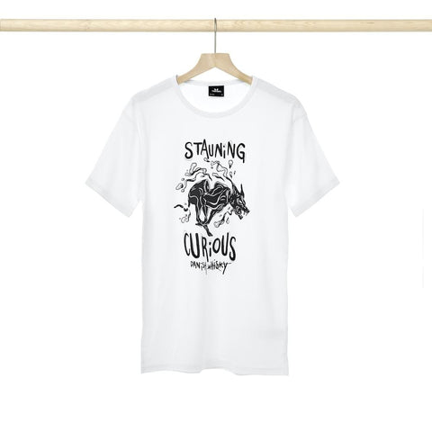 Load image into Gallery viewer, Stauning Curious T-shirt - White