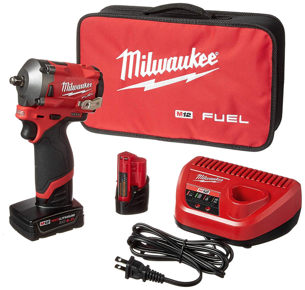 Milwaukee® M12 FUEL 3/8 in. Stubby Impact Wrench w/ (2) Batteries Kit