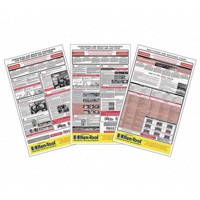 OSHA Tire Service and Safety Chart 3-Poster Kit