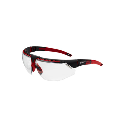 Uvex Avatar Glasses Blk/red, Clear Hsaf