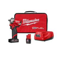 Milwaukee® M12™ FUEL™ Stubby 1/2 in. Impact Wrench w/ (2) Batteries Kit