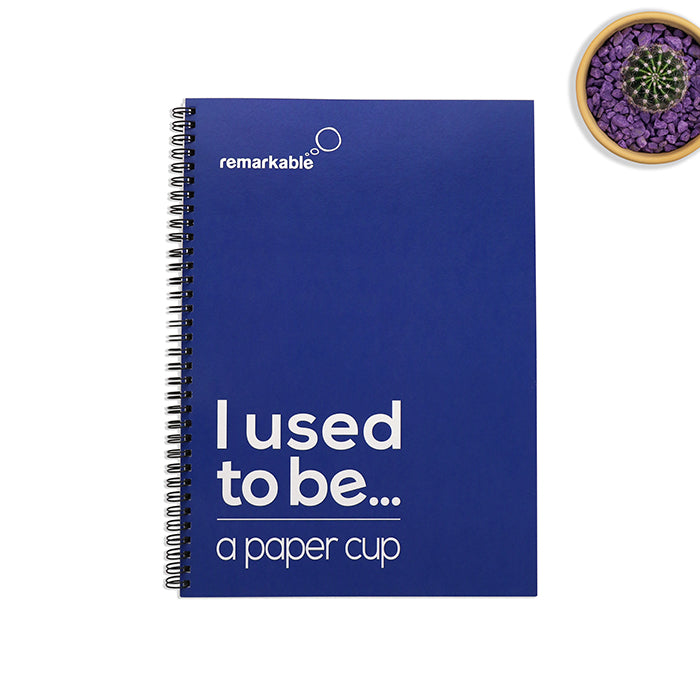 r-Cup A4 Coffee Cup and recycled paper Notebook