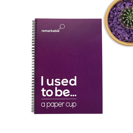 r-Cup A5 Recycled Paper and Coffee Cup Notebook
