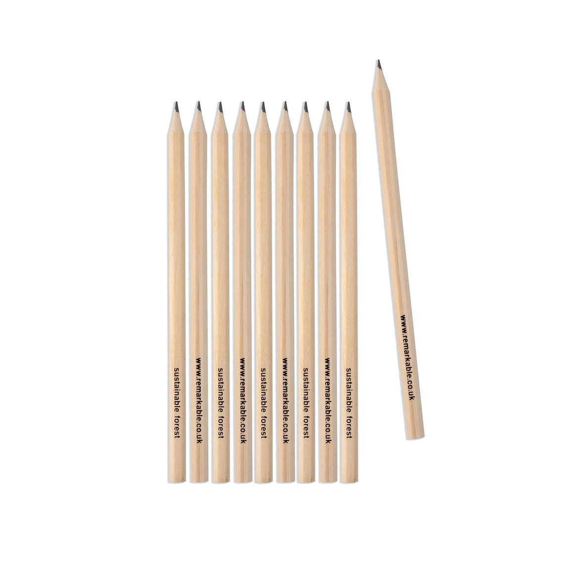 Sustainable FSC wooden Hex pencil - natural wood