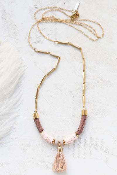 Collier Boho 39 light rose