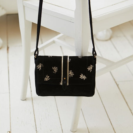 Sac Cuir Nils Printed Black