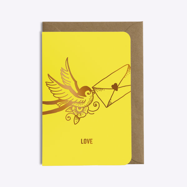 Carte Love Letter - Jaune Intense