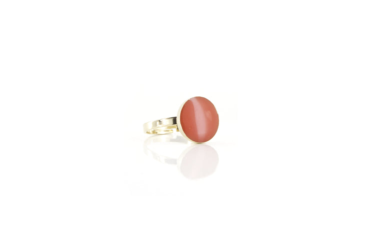 Bague Charleston L - Corail