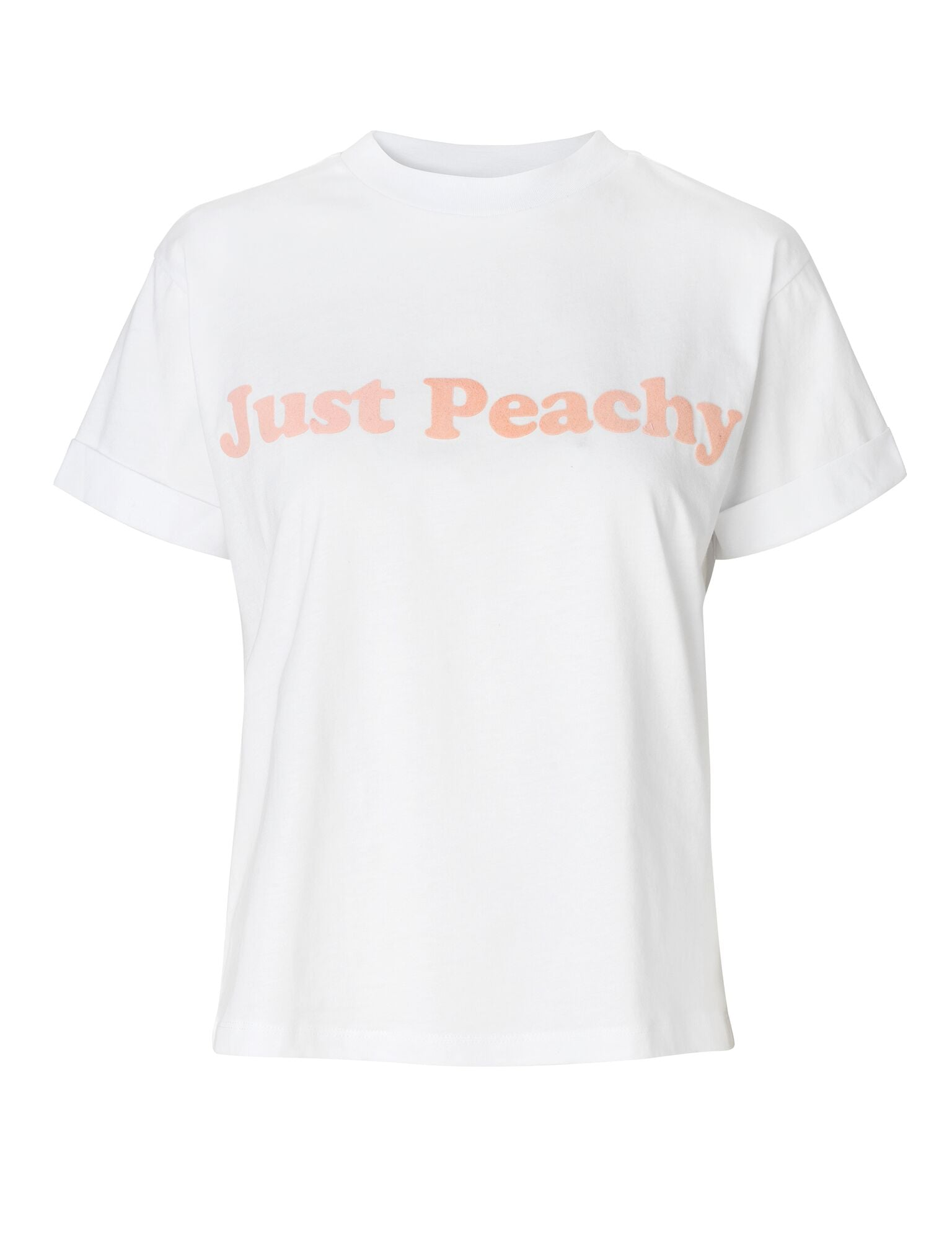 T-shirt Just Peachy - Blanc