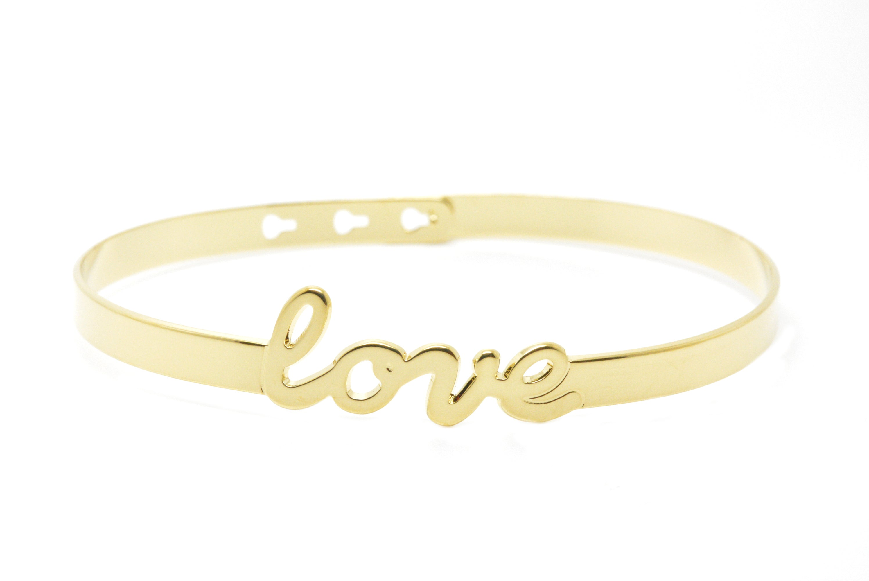 Bracelet jonc Love or