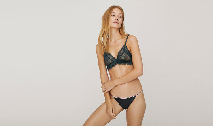 Culotte Wild Rose Lace - Navy