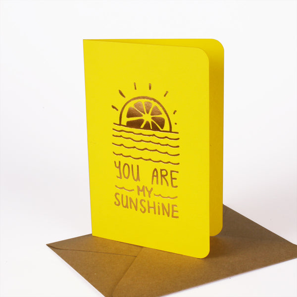 Carte Sunshine - Jaune Intense