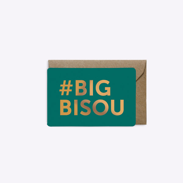 Mini Carte Big Bisou - Emeraude