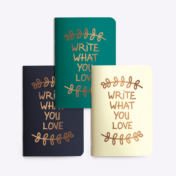 "Petits Carnets ""Write what you love"""