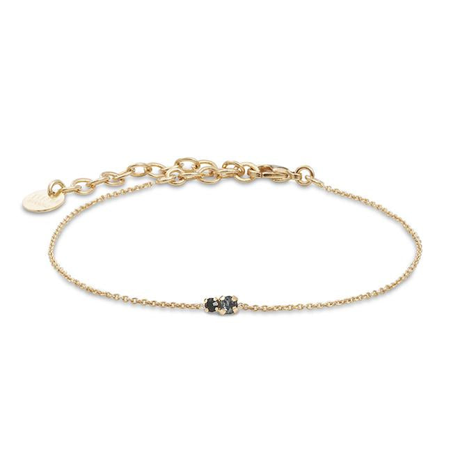 Bracelet Amants - Silver night / Jet