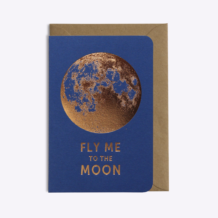 Carte Fly Me To The Moon - Saphir
