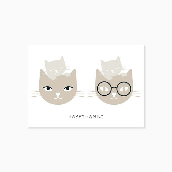 Carte Happy Family