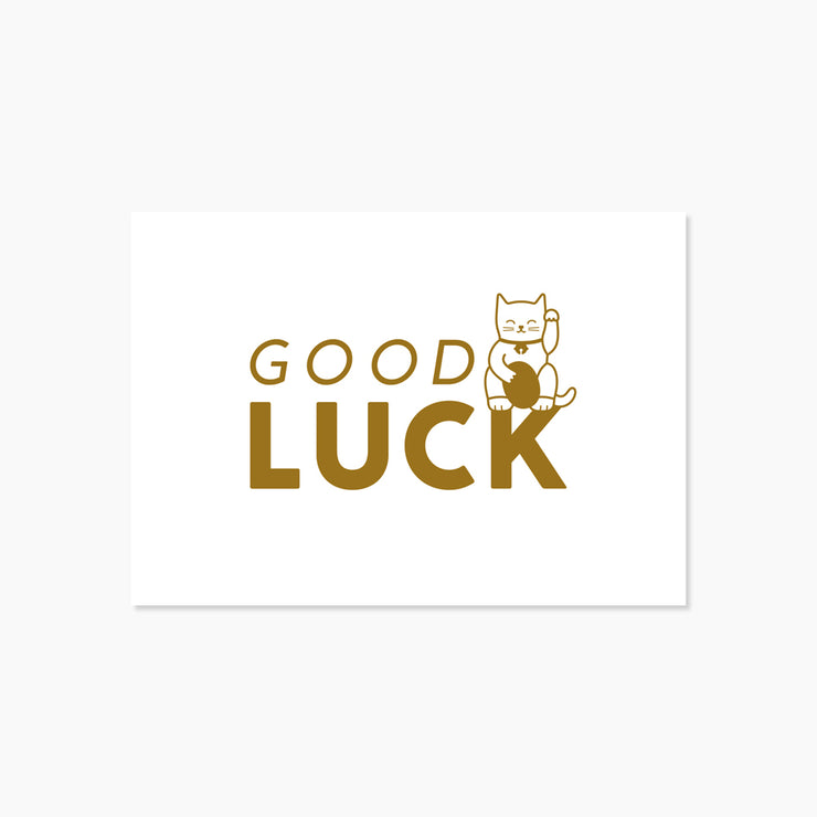 Carte Chat Good Luck