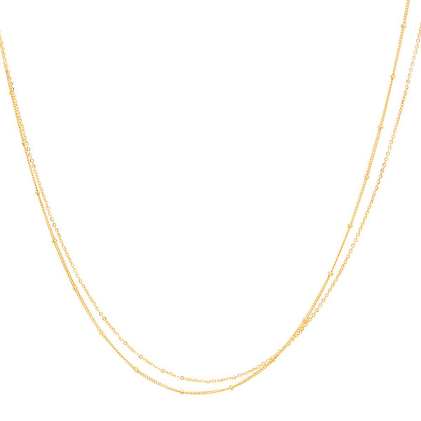 Collier Stella double - or jaune