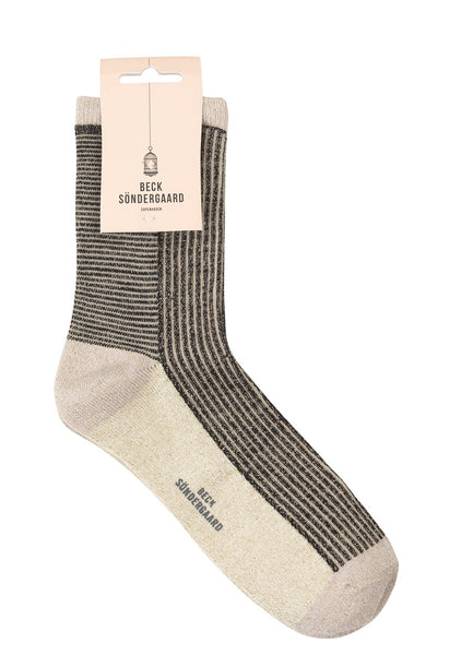 Chaussettes Dina Striped - Blanc