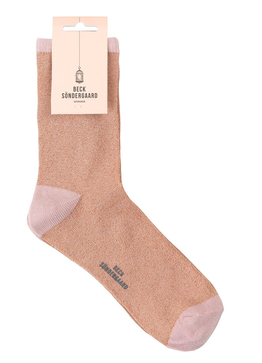 Chaussettes Dina Solid - Strawberry Cream