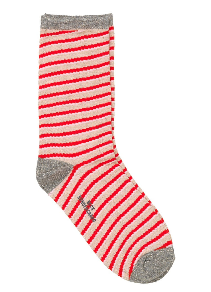 Chaussettes Duca Stripes - Hot Coral