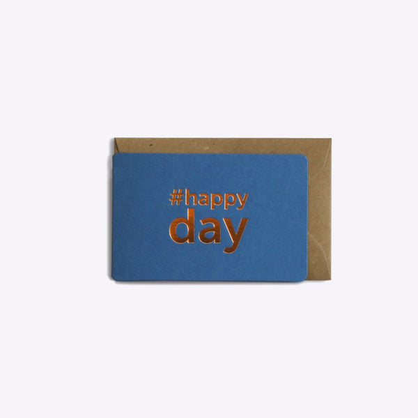 Mini carte Happy day - Bleu