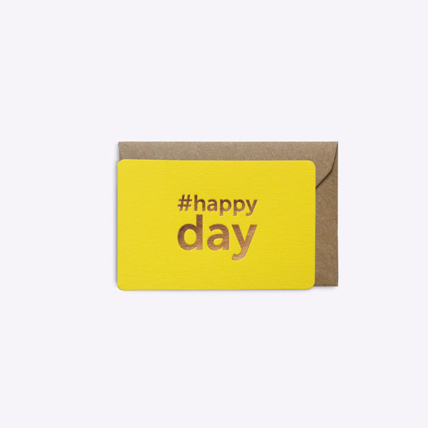 Mini Carte Happy Day - Jaune Intense