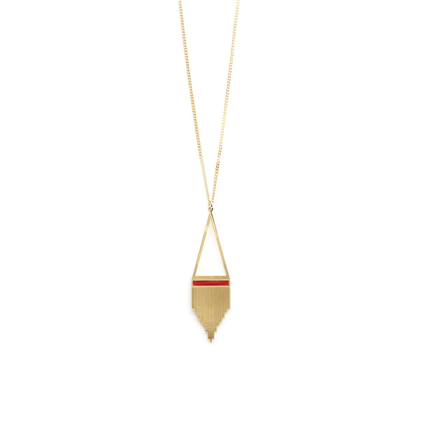 Collier STRIPE GM - rouge Frida